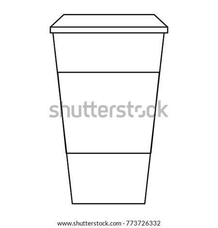 coffee paper cup template blank corporate stock vector royalty free