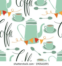 Coffee party pattern