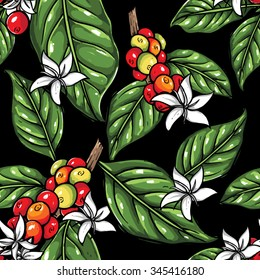 coffee plant pattern 4