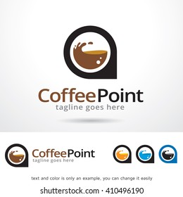 Coffee Point Logo Template Design Vector