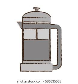 coffee pot handle glass vector illustration eps 10