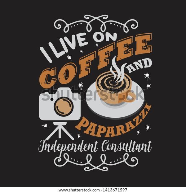vector de stock libre de regalias sobre coffee quote saying live