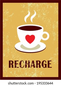 coffee recharge poster