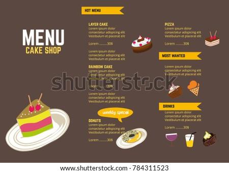 coffee restaurant brochure menu vector design のベクター画像素材