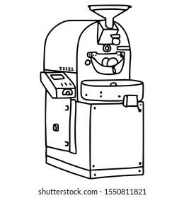 coffee roasting machine vector illustration