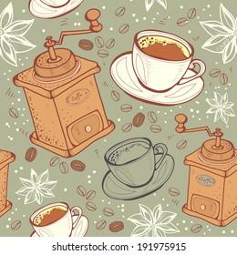 Coffee seamless, pattern