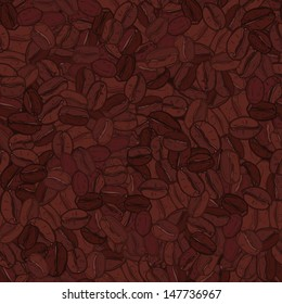 coffee seamless pattern and background