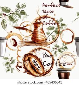 Coffee Wallpaper Images Stock Photos Vectors Shutterstock