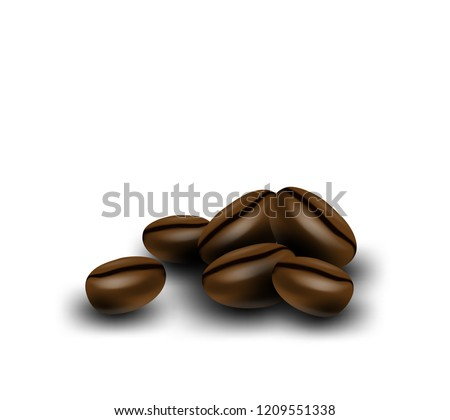 Coffee Seeds Isolated Stock Vector (Royalty Free) 1209551338