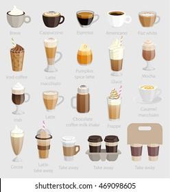 Coffee set. Vector illustration.