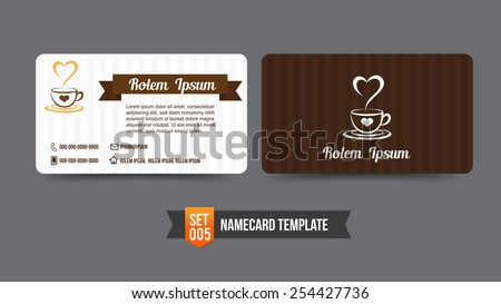 Coffee shop concept business card template stock vector royalty coffee shop concept business card template vector illustration flashek Choice Image
