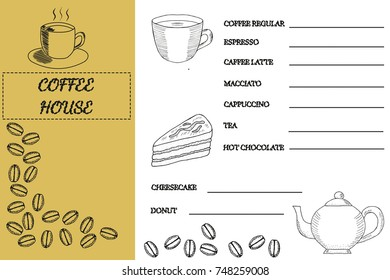 coffee shop house template doodle design stock vector royalty free
