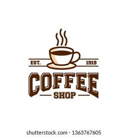 coffee shop icon symbol logo template. vintage coffee shop logo design