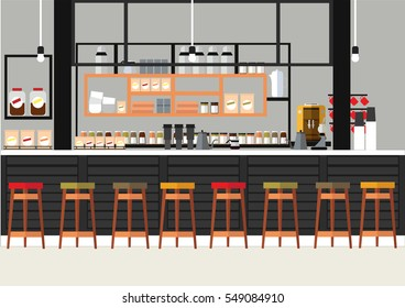 the coffee shop in the illustration