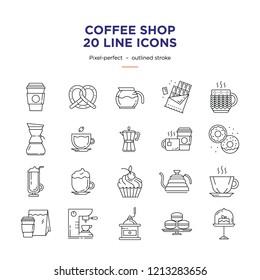 Coffee shop Line Icons