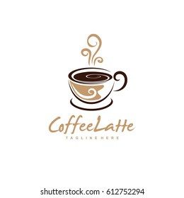 Coffee Shop Logo / Abstract Coffee Cup Vector / Unique Cup Logo Template