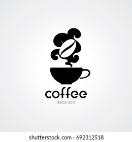Coffee shop logo design elements. Vector illustration