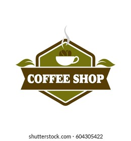Coffee shop logo design full vector for Logotype, Label, Badge and other design
