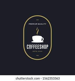Coffee shop logo design vector illustration
