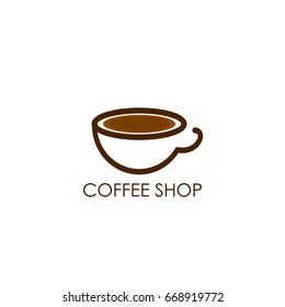 Coffee Shop Logo Icon Template Design Vector Illustration