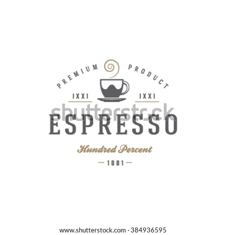 coffee shop logo template coffee cup stock vector royalty free