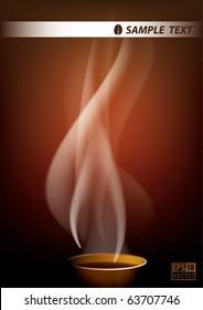 coffee smoke background, eps10 vector