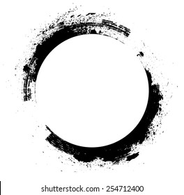 Coffee Stain Ring Vector .  Shape . Circle Stamps . Round Brush Stroke . Icon, Logo, Banner Design .