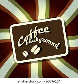 Coffee stripe background