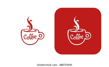 coffee symbol, a cup of coffee, vector drawing