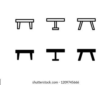 Coffee Table Icon Logo Vector Symbol