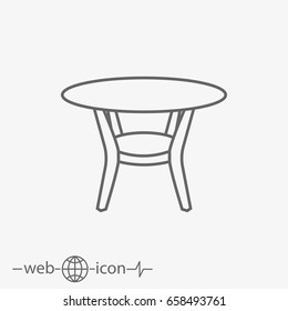 coffee table vector icon