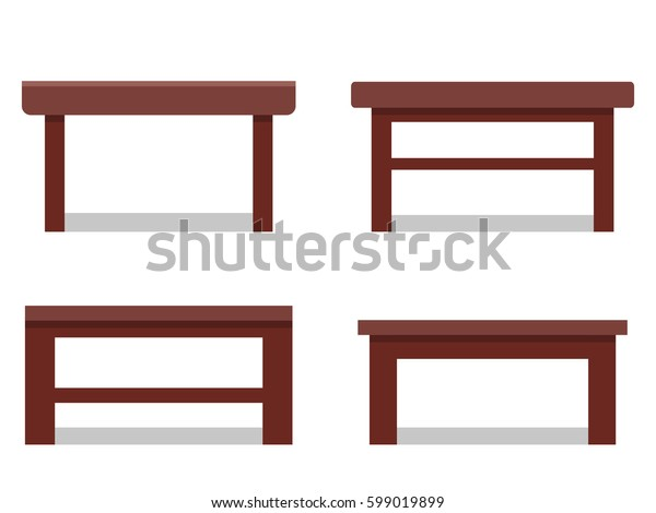 Coffee tables in flat design. Vector icon. Furniture for cartoon living room..