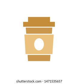 coffee take away icon. flat illustration of coffee take away - vector icon. coffee take away sign symbol