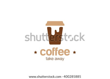 coffee take away paper cup logo stock vector royalty free
