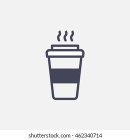 Coffee takeaway icon vector