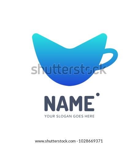 coffee tea cup logotype vector template stock vector royalty free