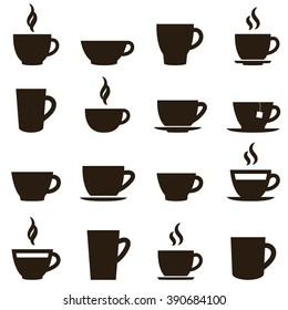 coffee and tea cup set