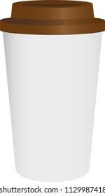 Coffee , Tea Cup. Take away. Vector Illustration