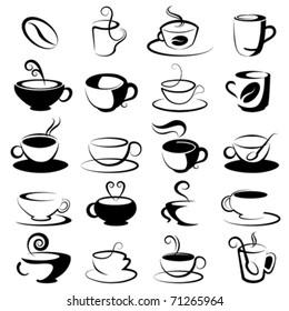 coffee and tea design elements