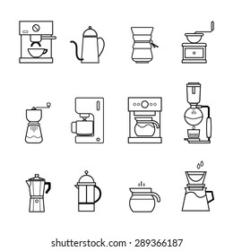 coffee and tea icons set vector eps 10