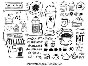 Coffee and tea sketches