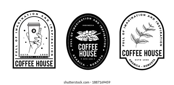coffee template design for logo, badge, emblem and other