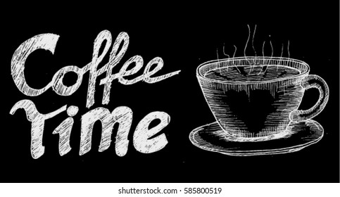coffee time, chalk