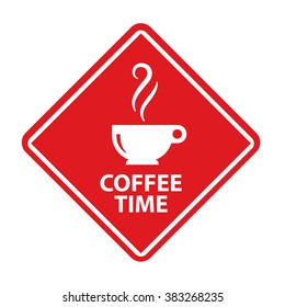 Coffee time sign