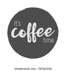 It's coffee time stamp vector
