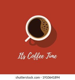 Its Coffee Time Vector Illustration