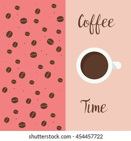 Coffee time vector illustration.