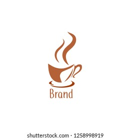 coffee tool vector logo design template. Vector coffee shop labels.Minimalistic vector