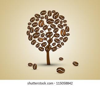 coffee tree. coffee tree concept