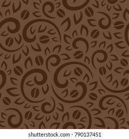 Coffee tree pattern brown